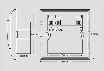 门插卡取电开关接线图